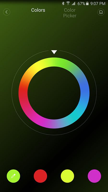 Thiết lập 4 màu trong chế độ Flow
